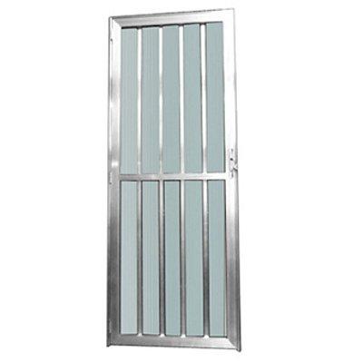 Porta Palito brilho 2,10 x 0,80 - Esquerda c/ Vidro Mini Boreal