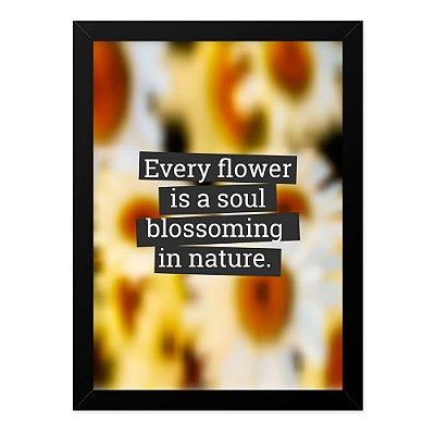 Quadro A4 Blur Flower