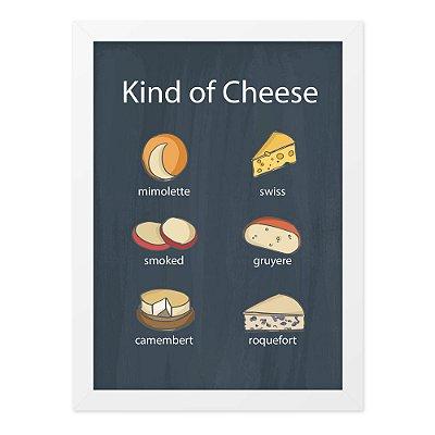 Quadro A4 Cheese Kinds