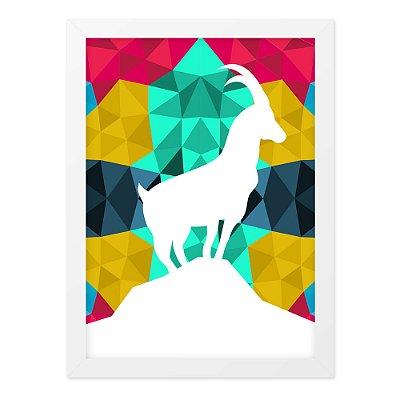 Quadro A4 Deer Geometrico