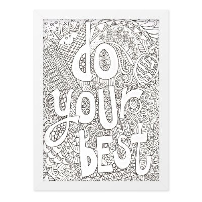 Quadro A4 Do Your Best