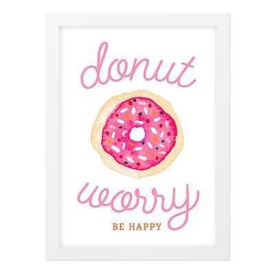 Quadro A4 Donut Worry