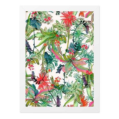 Quadro A4 Folhas Tropicais