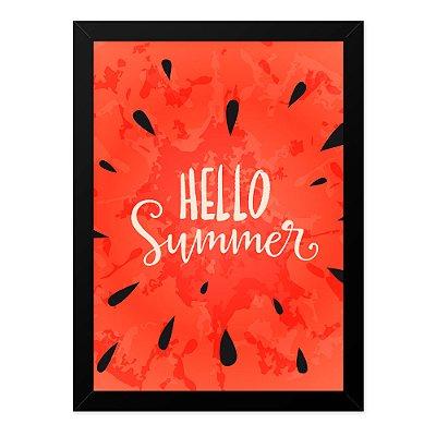 Quadro A4 Hello Summer