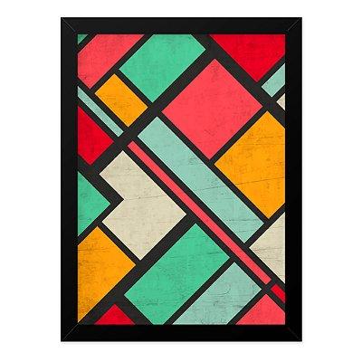 Quadro A4 Mosaico Retro