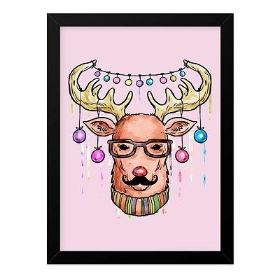 Quadro A4 Moustache Deer