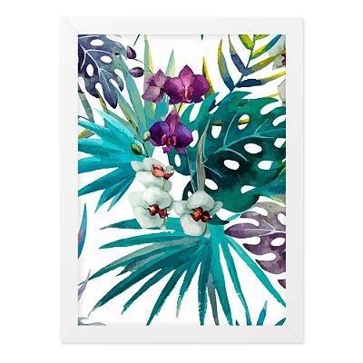 Quadro A4 Plantas E Flores