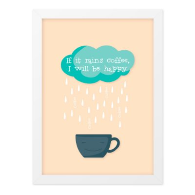 Quadro A4 Rains Coffee