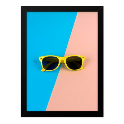 Quadro A4 Retro Glasses