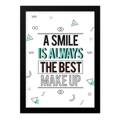 Quadro A4 Smile The Best Make Up