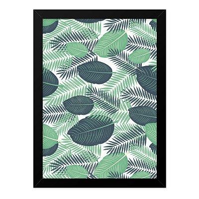 Quadro A4 Textura Folhas Tropicais