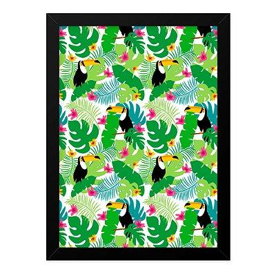 Quadro A4 Tucanos Folhas