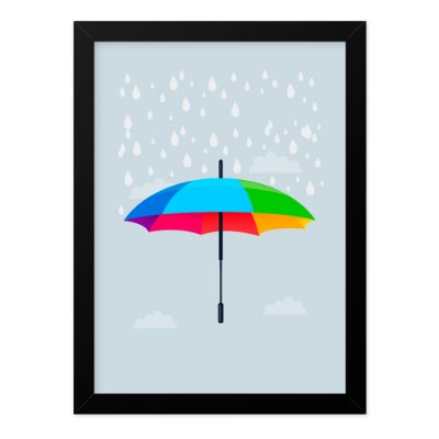 Quadro A4 Umbrella Rain