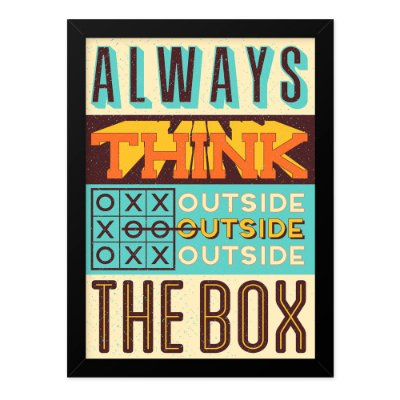 Quadro A4 Vintage Think Outside