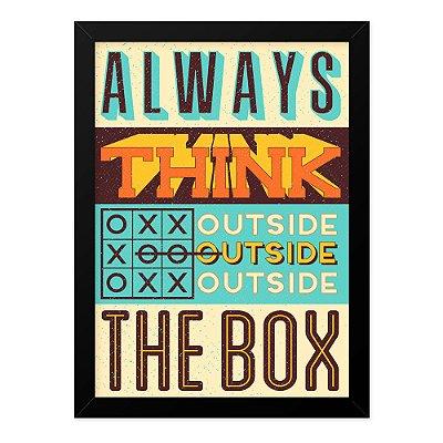 Quadro A4 Vintage Think Outside