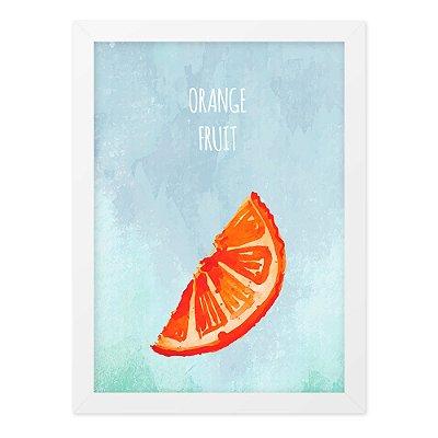 Quadro A4 Aquarela Orange