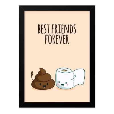 Quadro A4 Best Friends Bathroom