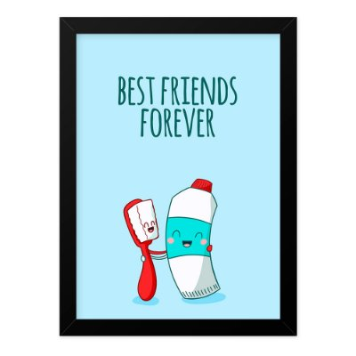 Quadro A4 Best Friends Brush