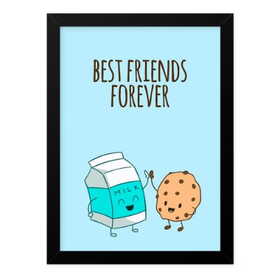 Quadro A4 Best Friends Cookie Milk