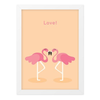 Quadro A4 Card Flamingo