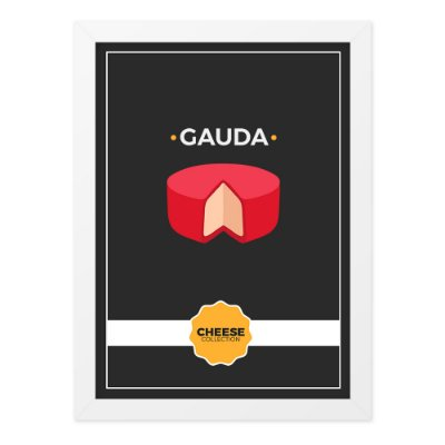 Quadro A4 Cheese Collection Gauda
