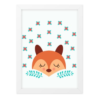Quadro A4 Cute And Wild Fox2