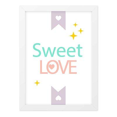 Quadro A4 Fofo Sweet Love