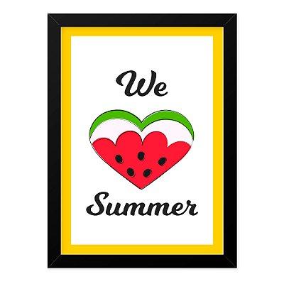 Quadro A4 Fruits Love Summer