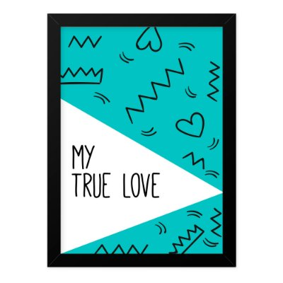 Quadro A4 Geometric True Love
