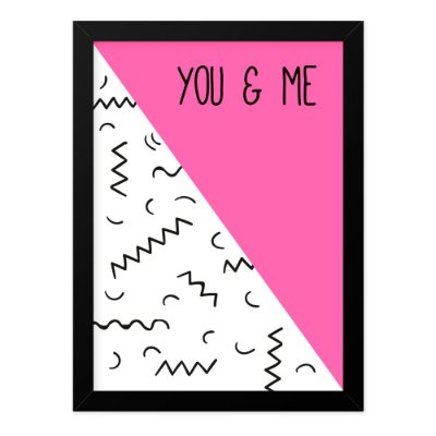 Quadro A4 Geometric You And Me