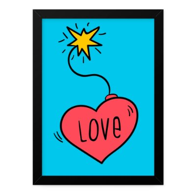 Quadro A4 Just Love Bomb