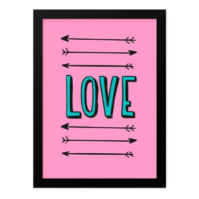 Quadro A4 Love Arrows