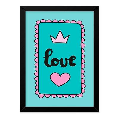 Quadro A4 Love Card