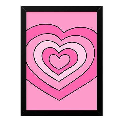 Quadro A4 Love Hearts