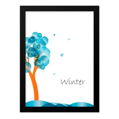 Quadro A4 Seasons Winter