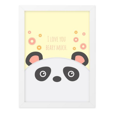Quadro A4 So Cute Bear