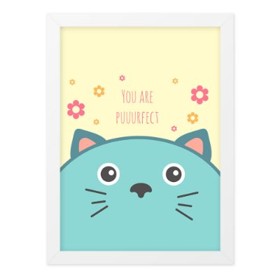 Quadro A4 So Cute Cat