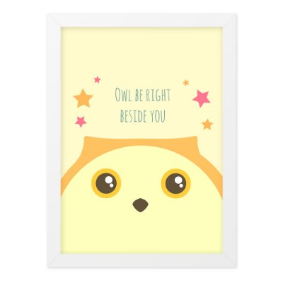 Quadro A4 So Cute Owl