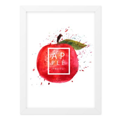 Quadro A4 Splash Fruits Apple