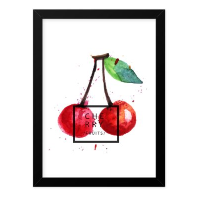 Quadro A4 Splash Fruits Cherry