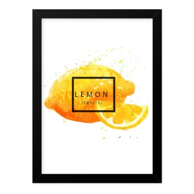 Quadro A4 Splash Fruits Lemmon