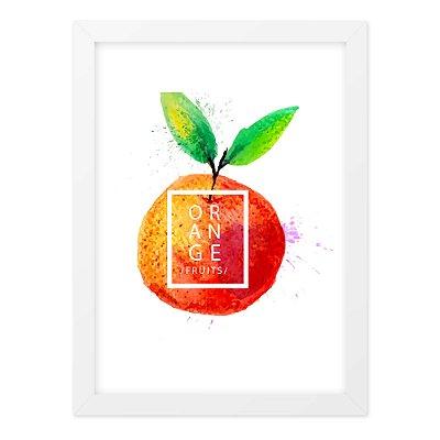 Quadro A4 Splash Fruits Orange