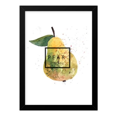 Quadro A4 Splash Fruits Pear