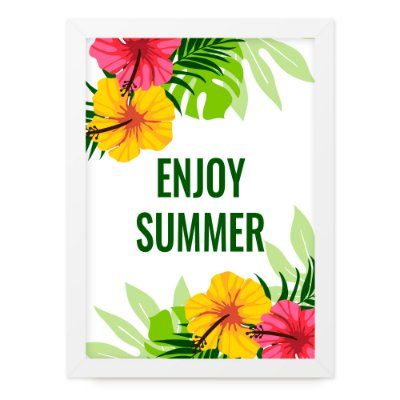 Quadro A4 Summer Enjoy