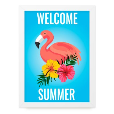 Quadro A4 Summer Flamingo