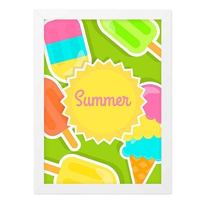Quadro A4 Summer Ice Cream