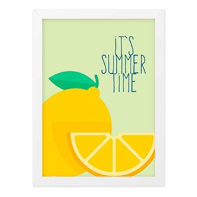 Quadro A4 Vetor Summer Time