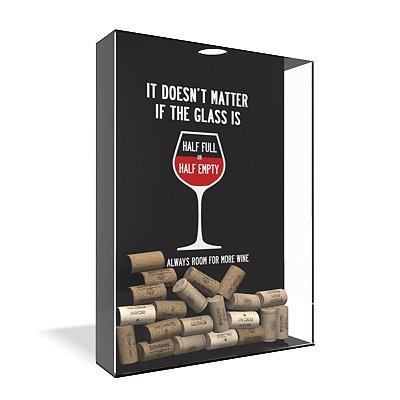 Quadro Porta Rolha de Vinho Acrílico - Cheio ou Vazio?