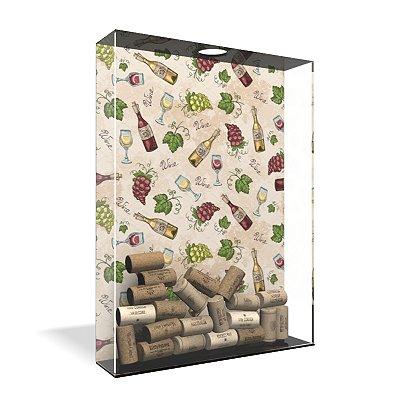 Quadro Porta Rolha de Vinho Acrílico - Textura Vinhos