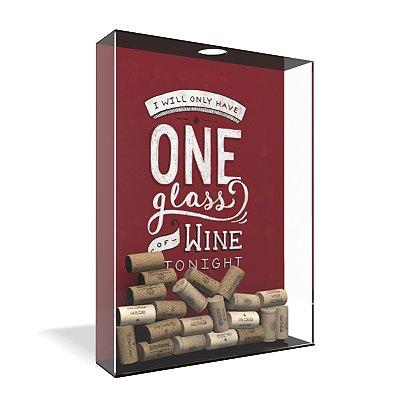 Quadro Porta Rolha de Vinho Acrílico - One Glass